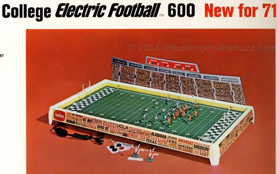 Electric football Tudor college bowl electric football alabama notre dame