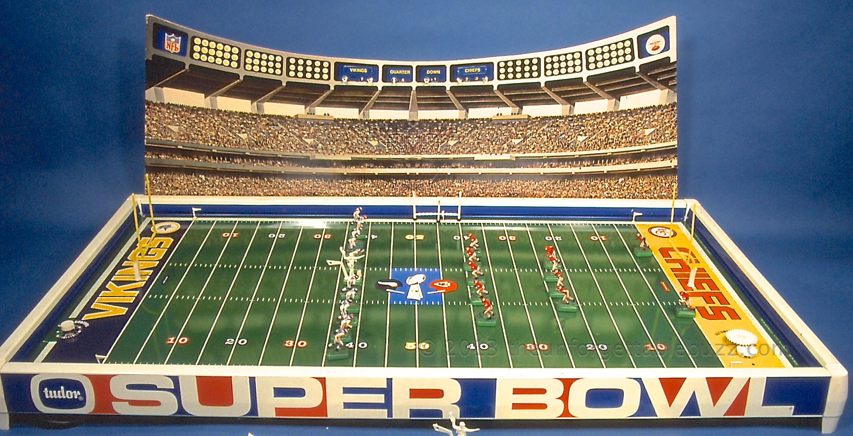 electric football super bowl IV Tudor NFL AFL Vikings Chiefs
