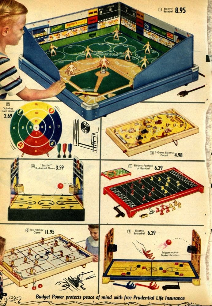 1950 Christmas Toys For Boys : The unforgettable buzz electric football christmas catalog