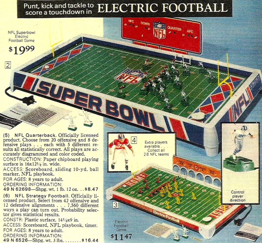 Electric Football Christmas Catalog Countdown - 1978 Sears Wish ...