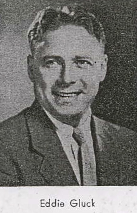 A photo of Eddie Gluck, who was Gotham's Vice President in 1954.