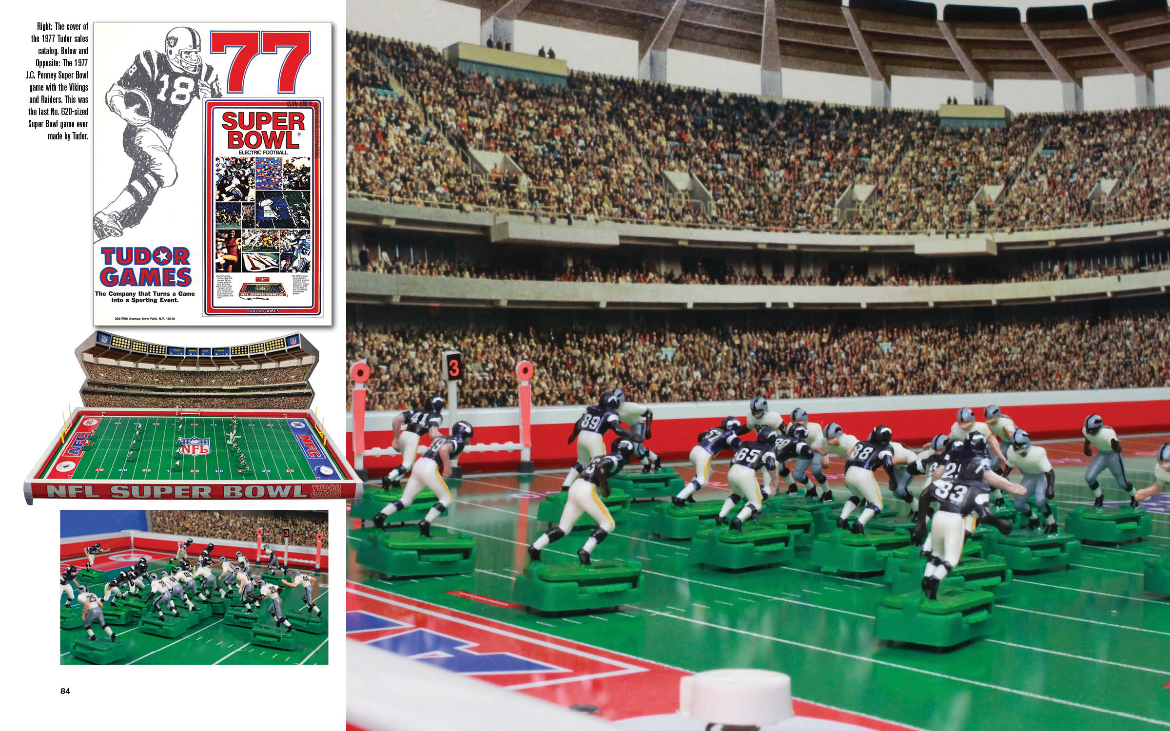 A Double Page Spread 1977 660 Super Bowl From Full Color Electric Football