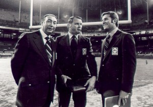 "<img alt=""ABC Monday Night Football Announcers Howard Cosell, Keith Jackson, and Don Meredith in 1970"">"
