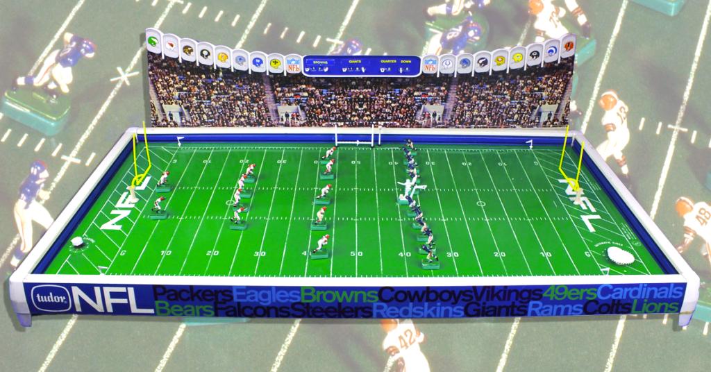 "<img alt=""1967 Tudor NFL 620 Electric Football game browns giants No. 1 Countdown"">"