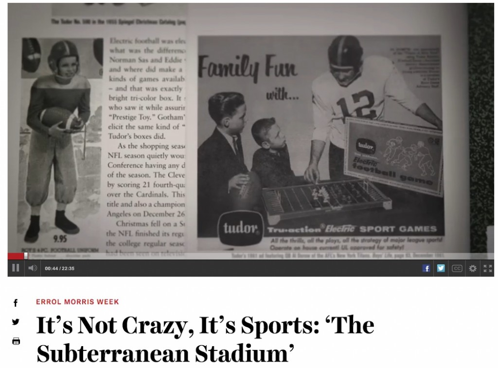 Pages 82 and 138 from The Unforgettable Buzz as they appeared the ESPN Electric Football documentary.