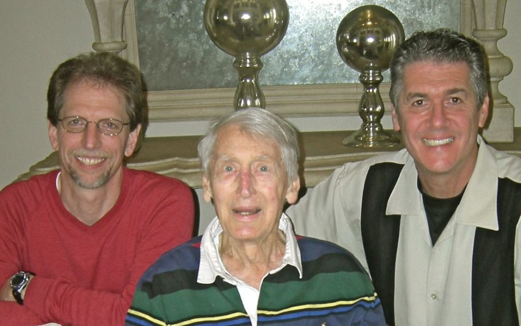 "<img alt=""Electric Football Inventor Norman Sas meeting Earl Shores and Roddy Garcia in 2010'>"