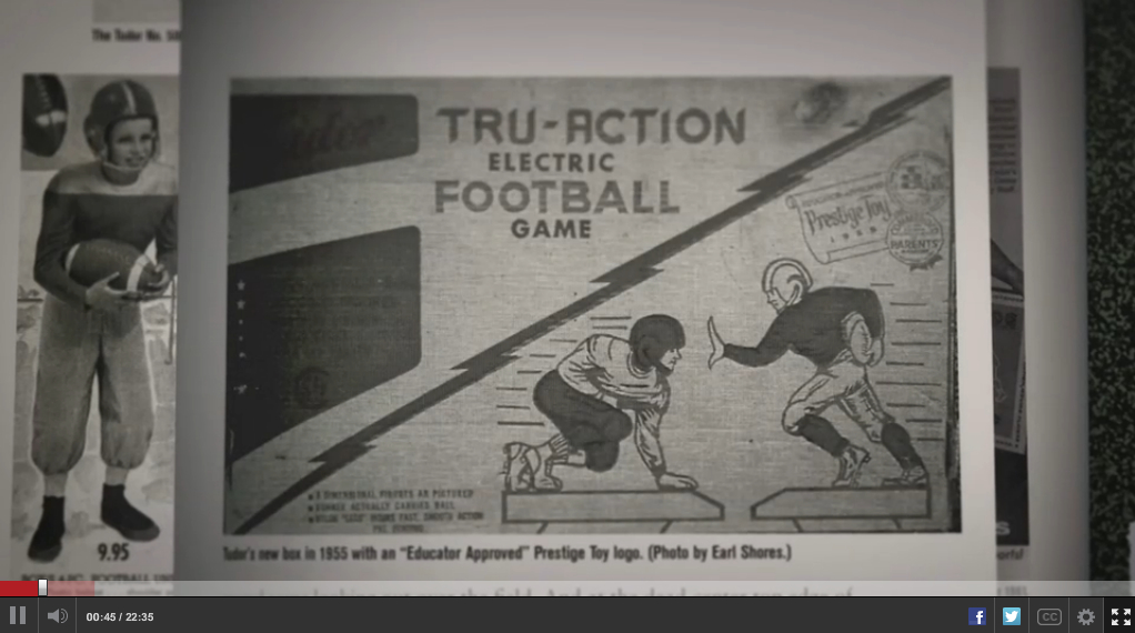 page from The Unforgettable Buzz that appears in the ESPN Electric Football documentary