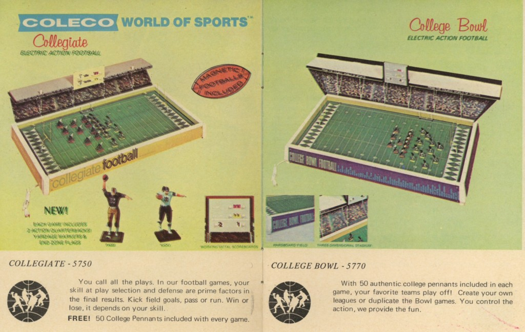 Coleco's 1970 line of College games