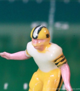Electric Football Green Bay Packer with sleeve and helmets stripes.