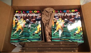 Box of Full Color Electric Football Books