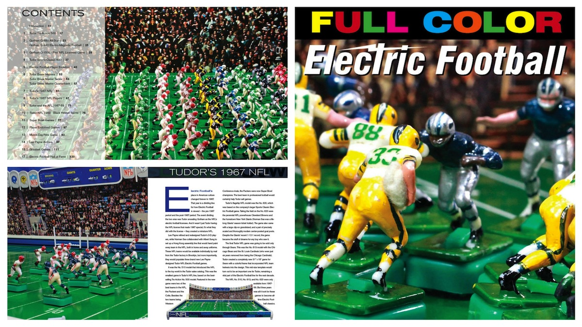"<img alt=""Full Color Electric Football book cover image and sample pages"">"