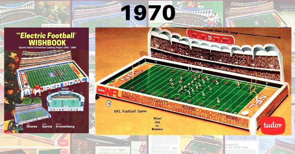 "<img alt=""Electric Football Wishbook Jets Browns NFL 1970 610 Electric Football Game"">"