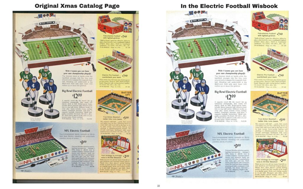 "<img alt=""Restoring of the 1968 Sears Electric Football page in the Wishbook"">"
