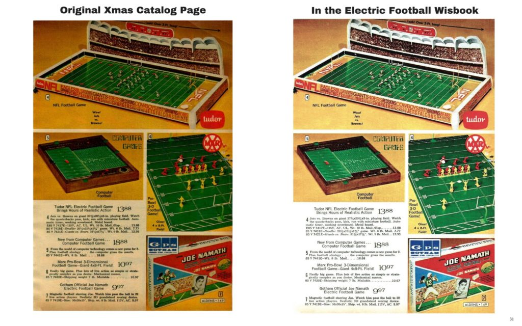 "<img alt=""Electric Football Wishbook before and after page restoring comparison"">"