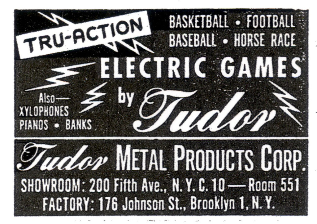 1969 ADVERTISEMENT Tabletop Game NFL Electric Baseball Tru-Action Football